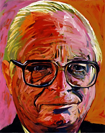 Portrait of Gordon Hampton, 1988, Arnold Mesches
