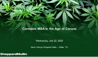 Cannabis Webinar Wednesday - Cannabis M&A in the Age of Corona
