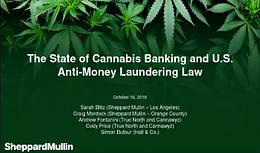 Cannabis Webinar Wednesday: The State of Cannabis Banking and U.S. Anti-Money Laundering Law