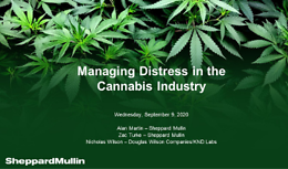 Cannabis Webinar Wednesday - Managing Distress in the Cannabis Industry – Meeting Challenges and Opportunities