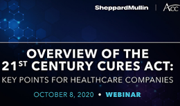 Overview of the 21st Century Cures Act Webinar