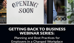Getting Back To Business Webinar Series: Session Two
