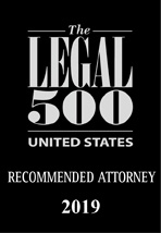The Legal 500 US Recommended Attorney 2019
