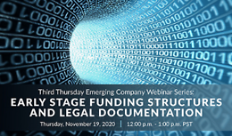 Third Thursday Emerging Companies Webinar Series: Early Stage Funding Structures and Legal Documentation