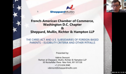 The CARES Act and U.S. Subsidiaries of Foreign-based Parents – Eligibility Criteria and Other Pitfalls