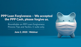 PPP Loan Forgiveness – We accepted the PPP Cash, please forgive us.