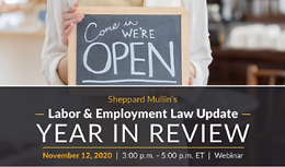 Sheppard Mullin's Labor & Employment Law Update - Year In Review