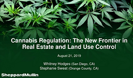 Cannabis Webinar Wednesday: Cannabis Regulation Is the New Frontier in Real Estate and Land Use Control